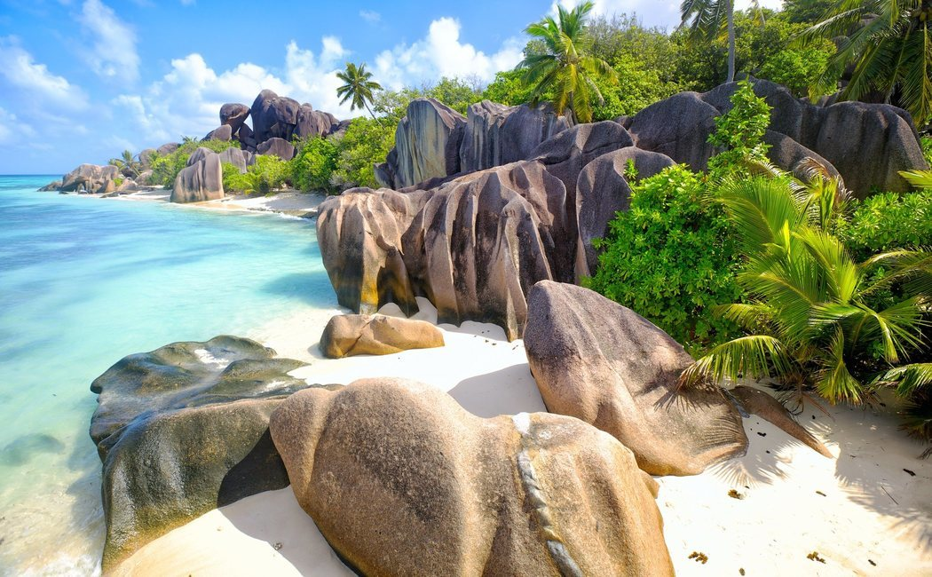 Resultado de imagen de las tres mayores islas deSeychelles, Mahé, La Digue y Praslin.