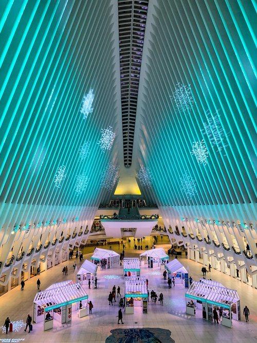 El Oculus diseñado por Santiago Calatrava, en Downtown Nueva York