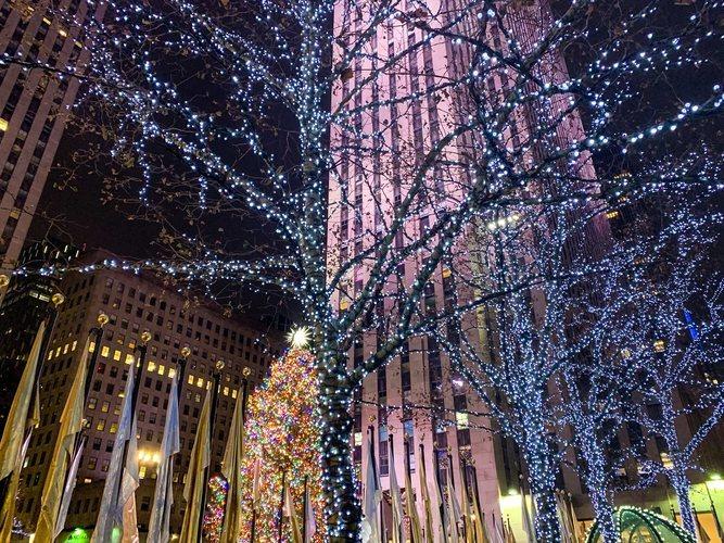 Luces de Navidad en Rockefeller Plaza, Nueva York