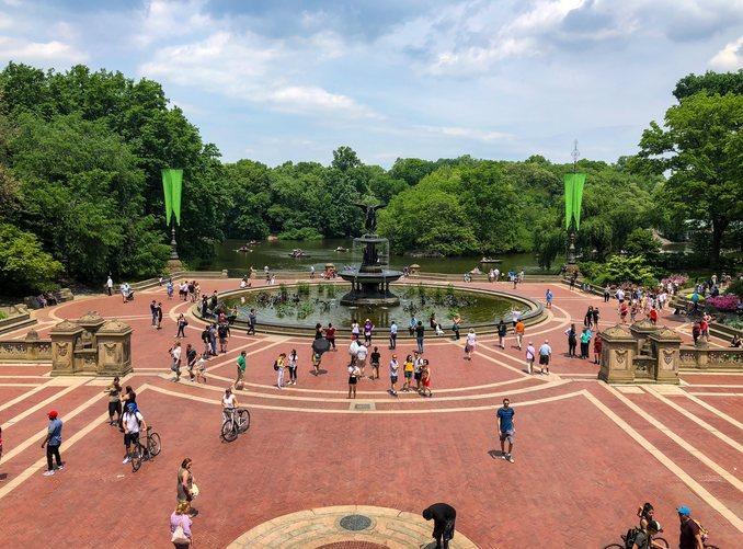 La popular fuente de Bethesda en Central Park