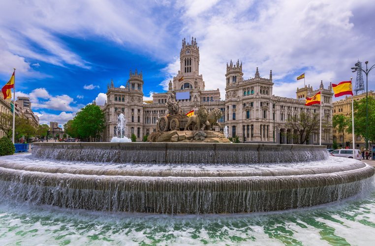 El Ayuntamiento de Madrid y la fuente de Cibeles