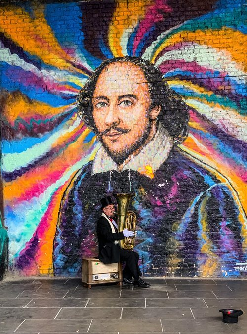 Mural de Shakespeare en Southbank en Londres