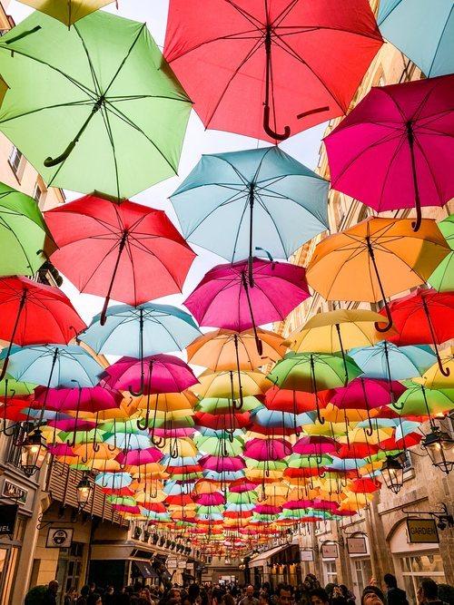 Los paraguas de la Rue Royal de París