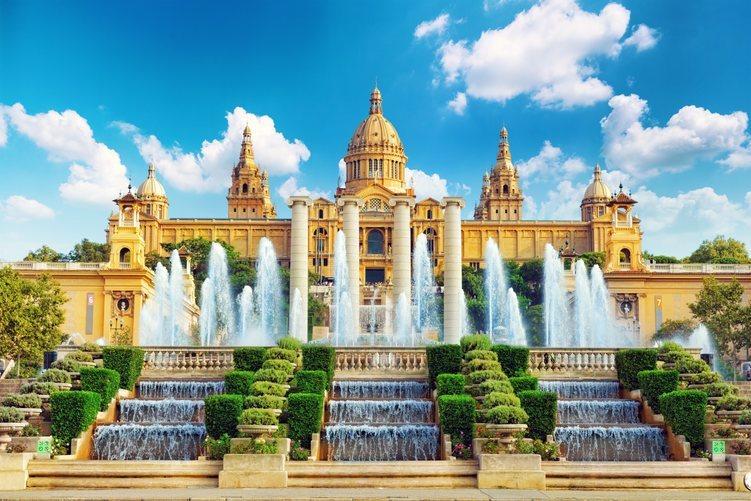 La fuente de Montjuïc en Barcelona