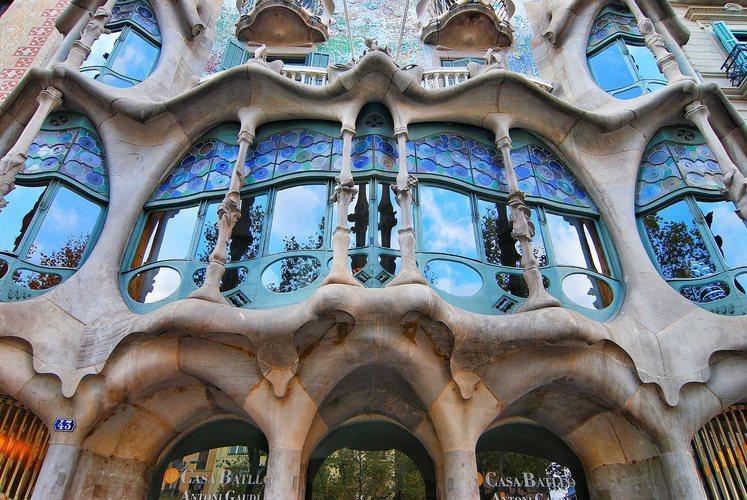 La fachada de la Casa Batlló de Barcelona