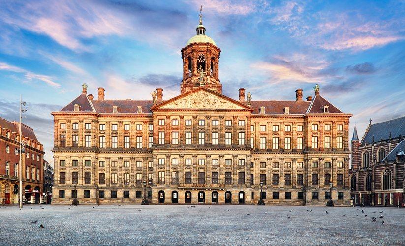 El Palacio Real holandés en Amsterdam