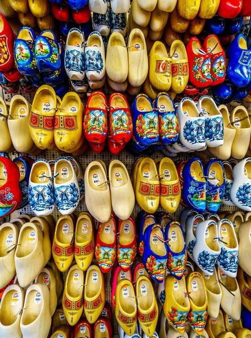 Los tradicionales zuecos holandeses de souvenir