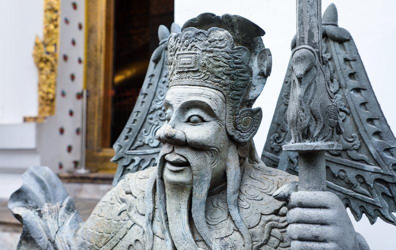 Estatua en el templo de Wat Pho en Bangkok